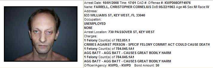 Christopher Farrell arrest data