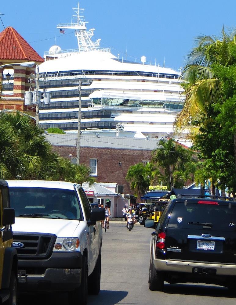 Cruise ship downtown