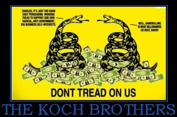 Koch Brothers Flag